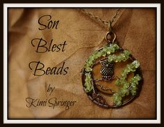 Adorable TREE of LIFE with moon and owl by artist Kimi Springer of Son Blest Beads. Tree of life wire pendant http://www.ebay.com/sch/sonblestbeads/m.html?item=281167463243&pt=Handcrafted_Artisan_Jewelry&hash=item4176e3034b&rt=nc&_trksid=p2047675.l2562