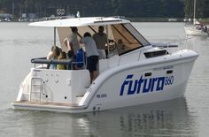 RUFI – czartery jachtów mazury: FUTURA 860 HOUSEBOAT  - Futura 100e for day in sept. Yachts, Vacations, Boats, Vacation, Ships, Boating, Holidays, Boat, Travel