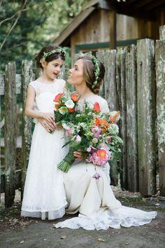 Photography: ANA NYC - anaphoto.co Wedding Dress: Claire Pettibone - www.clairepettibone.com/ Flowers: Alenas Designs - alenasdesigns.com   Read More on SMP: http://www.stylemepretty.com/california-weddings/2014/09/11/romance-in-the-redwoods/