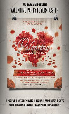 Valentine Party Flyer / Poster - Clubs & Parties Events