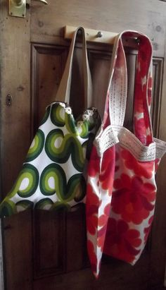 Womens retro beach  shopping tote bag in by DollyTopsyVintage, £10.00