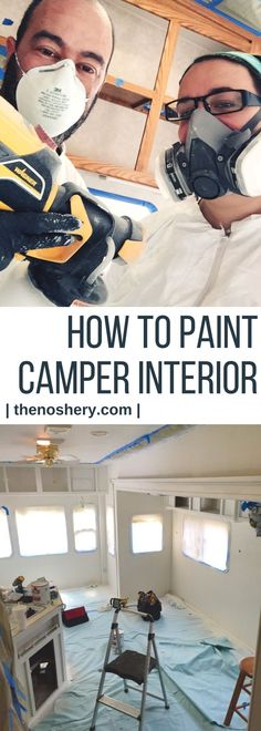 How to Paint Camper Interior | Learn how to paint camper interior and bring and old camper back to life. | The Noshery via @thenoshery