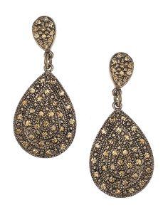 Pave Teardrop Earrings | Gold | Accessorize