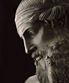 Presumed bust of Plato, bronze,1st century BCE. Roman replica of a Hellenistic original. On display at the National Archaeological Museum of Naples (Italy)