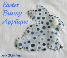 Easter Bunny Applique Tutorial via @Roslyn Russell {Sew Delicious}