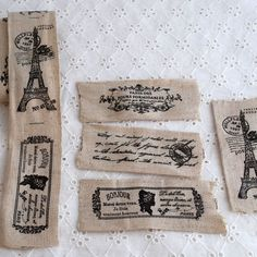 OrientalDirect.co.uk - Linen Cotton Blend Fabric Printed Ribbon Trim Sewing Label - French Paris Eiffel Tower Airmail, £2.95 (http://www.orientaldirect.co.uk/linen-cotton-blend-fabric-printed-ribbon-tape-sewing-label-french-paris-eiffel-tower-airmail/)