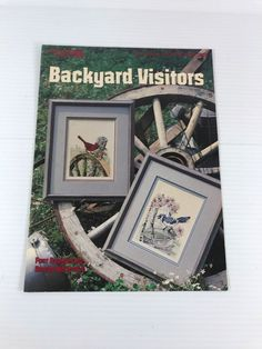 BIRD CROSS STITCH PATTERN, counted cross stitch pattern, Backyard Visitors, EUC #LeisureArts