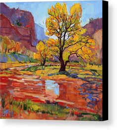 Reflections In The Wash Canvas Print by Erin Hanson. All canvas prints are professionally printed, assembled, and shipped within 3 - 4 business days and delivered ready-to-hang on your wall. Choose from multiple print sizes, border colors, and canvas materials.