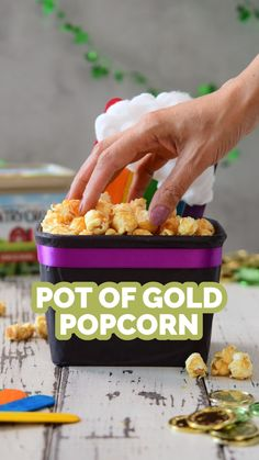 Popsicle Stick Crafts, Popsicle Sticks, Upcycled Crafts, Repurposed, Cooking Popcorn, Pot Of Gold, Party Snacks, Upcycling