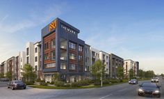 The new Mark at Midtown Park apartments are being built on North Central Exopressway just north of Meadow Road.