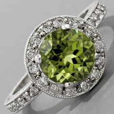 Never have I ever wanted a diamond engagement ring.  I love peridot if anyone is taking notes.