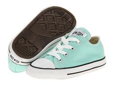 how cute would these be for Waylon?? Converse Kids Chuck Taylor® All Star® Ox (Infant/Toddler) Beach Glass - Zappos.com Free Shipping BOTH Ways