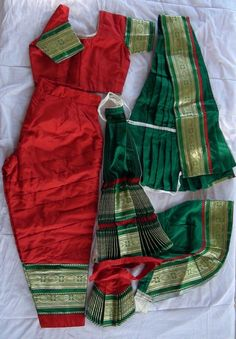 DanceJewelryOnline.com - Bharatanatyam dance costume Pant style Readymade Red and Green, USD 79.65 (http://www.dancejewelryonline.com/products/Bharatanatyam-dance-costume-Pant-style-Readymade-Red-and-Green.html)
