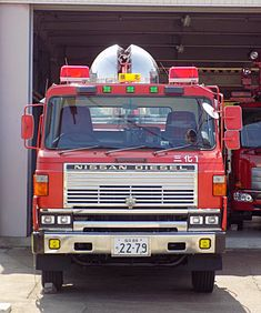 Nissan Diesel Truck, Nissan Trucks, Diesel Trucks, Nissan Infiniti, Rescue Vehicles, Fire Truck, Fire Engine, Commercial Vehicle, Big Trucks