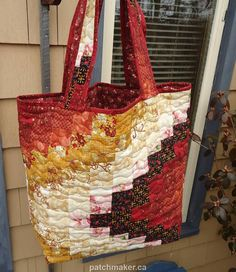 Quilted Tote Bag Bargello Pattern by Patchmaker