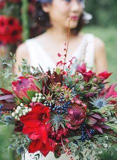 Bouquet da sposa rossi (Foto 13/39)   PourFemme