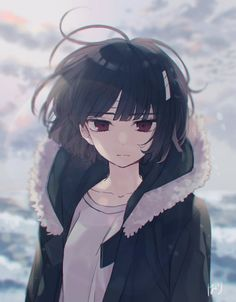 Sachiiro no one room Anime Oc, Dark Anime, Anime Black Hair, Chica Anime Manga, Cool Anime Girl, Pretty Anime Girl, Kawaii Anime Girl, Anime Art Girl, Manga Art