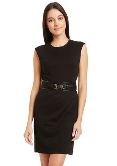 PREMISE Belted Sheath Dress