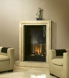 the fireplace surrounds are flamed finish absolute black granite