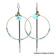 La délicatesse des perles miyuki est parfaite pour ces BO #lacabaneaperles #boucles d'oreilles #bijouafairesoimeme