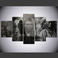 Famous Movie People Decorative Home Wall Pictures 5 Pieces Wall Art Canvas Prints Table Wall Decoration Painting For Living Room Large Canvas Prints, Canvas Artwork, Canvas Wall Art, Painting Canvas, Canvas Pictures, Pictures To Paint, Wall Pictures, Naruto Painting, Native American Decor
