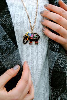 Elegant elephant. @Annika Moore your mom!!