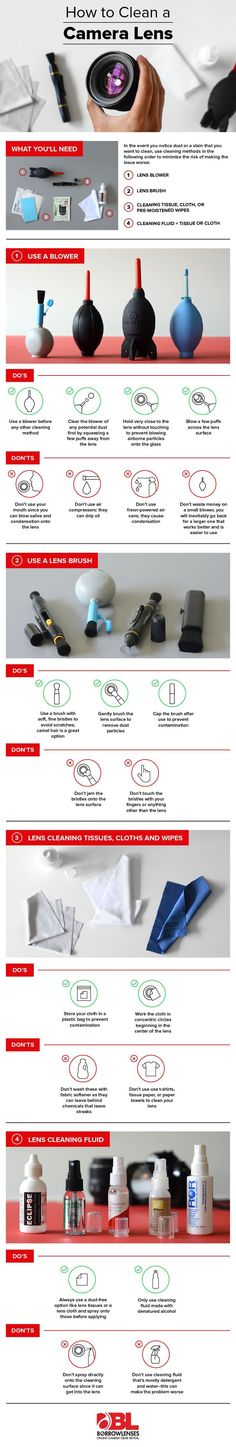 I chose this infographic because it explains how to clean your lens; and I'll eventually need to do that.