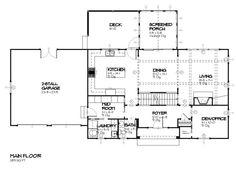 Traditional Style House Plan - 4 Beds 2.5 Baths 2483 Sq/Ft Plan #901-85 Main Floor Plan - Houseplans.com