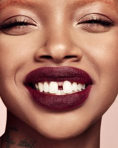 MATTEMOISELLE, Griselda Beauty Makeup, Face Makeup, Hair Beauty, Gap Teeth, Lip Shine, Beauty Portrait, Gorgeous Feet, Matte Lipstick, Beautiful Black Women