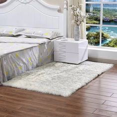 71 inch x 28 inch / 48 inch inch Faux Fur Sheepskin Rug Shaggy Area Rug Anti Skid Rectangle Carpet Bedroom Living Dining Room Rug Mat 6 colors,