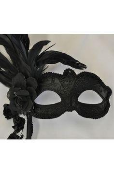 Floral Cascade Venetian Stick Mask #masquerade $19.95