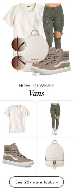 """Untitled #511"" by msfts-rep on Polyvore featuring J.Crew, MICHAEL Michael Kors and Vans"
