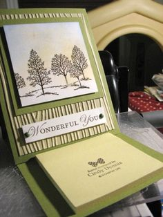 Trees Post It Note Holder