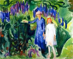 Mother and Daughter in the Garden Edvard Munch - 1920