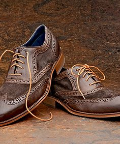 Cole Haan Lace Up Suede Wingtips