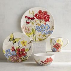 Gladden up every meal with our bloom-filled ceramic dinnerware. Each piece features bright wildflowers and offers the modern appeal of being dishwasher-safe and microwaveable. Pick as many as you'd like!