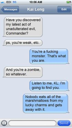 Kai Leng's latest act of evil inspired by theravenking: Texts from the Normandy.