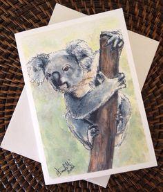 Koala Bear Blank Greeting Card on Etsy, $4.00 CAD