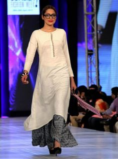 Adnan Pardesy The Working Woman Collection at PFDC Sunsilk Fashion Week 2013 Latest Pakistani Suits, Pakistani Outfits, Indian Outfits, Indian Look, Indian Ethnic Wear, Hijabs, Ethnic Fashion, Indian Fashion, Desi Wear