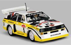 Slot cars, Scalextric Audi Sport Quattro S1 E2, C3410, 1985 WRC Rally San Remo
