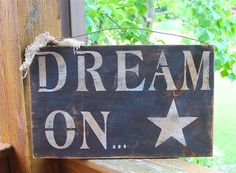 DREAM ON primitive Subway Sign Black and by AmericasFrontPorch, $18.00