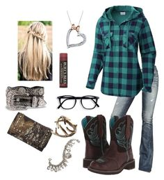 """""""at the farm store"""" by nk12doglover ❤ liked on Polyvore featuring True Religion, Columbia, Nocona, Ariat, Disney, Burt's Bees and Sweet Romance"""