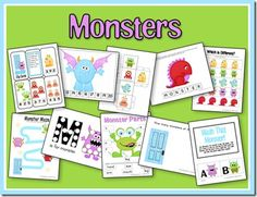 Monsters - Counting Mat (You'll need our counting cards.) Magnet Page Mash That Monster! Roll & Graph Monster Parts Patterns (ABAB and AABB) Spelling Page Count & Clip Which is Different? Writing Maze Beginning Writing/Cutting Practice Size Sort Monster Activities, Monster Crafts, Activities For Kids, Monster Games, Educational Activities, Learning Activities, Teaching Ideas, Monster Theme Classroom, Classroom Themes