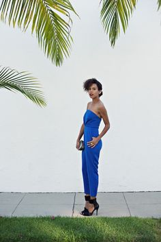 I love jumpsuits that are clean and bold. I love color especially bold colors! This blue is everything!
