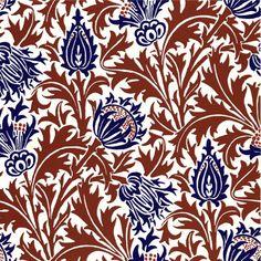 Thistle, William Morris and Co. Tiles from Textiles - Thistle, William Morris Tiles from Textiles - Art Nouveau Tiles, Art Deco, Linocut Prints, Art Prints, William Morris Art, Textiles, Pre Raphaelite, Chalk Pastels, Arts And Crafts Movement