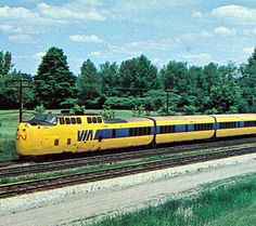 United Aircraft Turbotrain VIA Rail Torpedo. Ran between Montreal and Toronto in the 1970s.