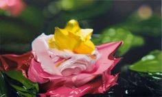 Paint gob flower
