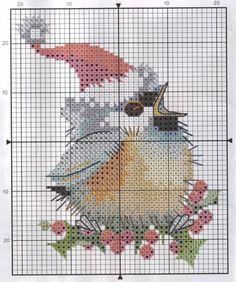 Схема вышивки Christmas Chick (Heritage)