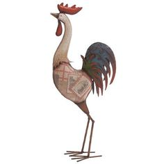 Give this cock a roost to rule - the charming DecMode Rooster Garden Sculpture - 28 in. Decorative Objects, Decorative Accessories, Cottage Kitchen Inspiration, Statues, Rooster Statue, Rustic Vintage Decor, Old Wagons, Rooster Decor, Chicken Art