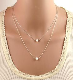A personal favorite from my Etsy shop https://www.etsy.com/il-en/listing/281804876/double-layered-pearl-necklace-fresh